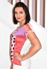 DECOLLAGE Decollage Multi Coloured Spotted Top