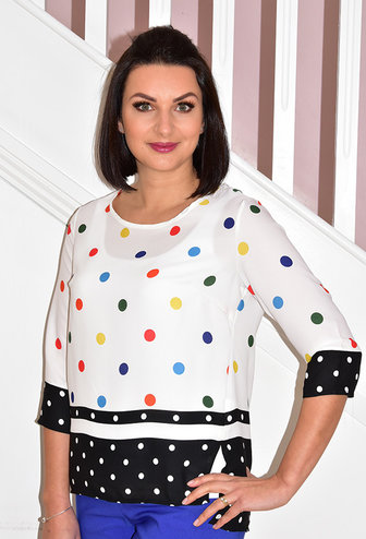 SAGE Multi Coloured Spotted Top