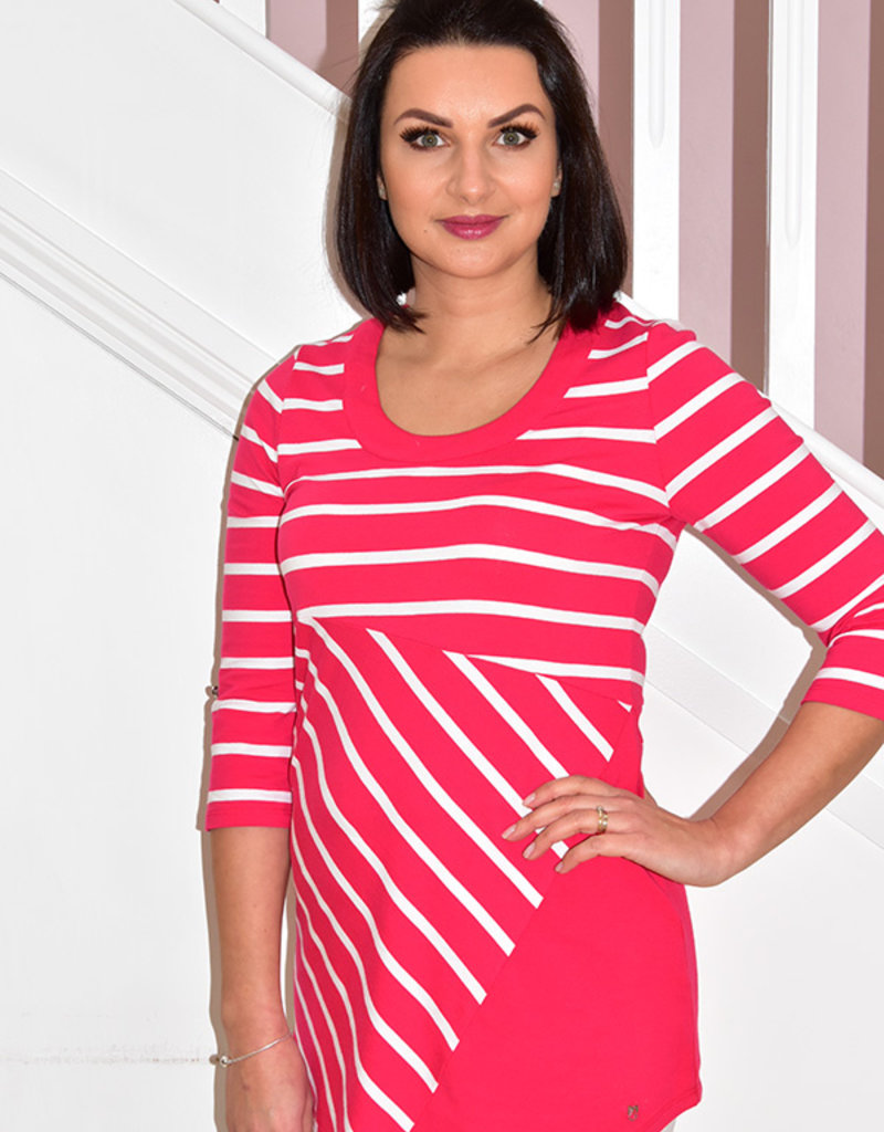MARBLE Stripe Top With Long Sleeve & Round