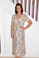 Leo & Ugo Floral Print Maxi With Buttons