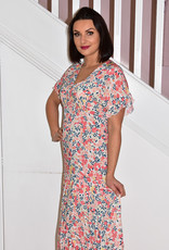 Leo & Ugo Multi Print Maxi Dress With Elasticated Back
