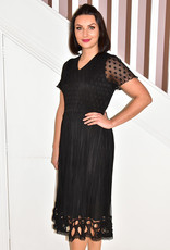 Leo & Ugo Black Dress With Chiffon Skirt