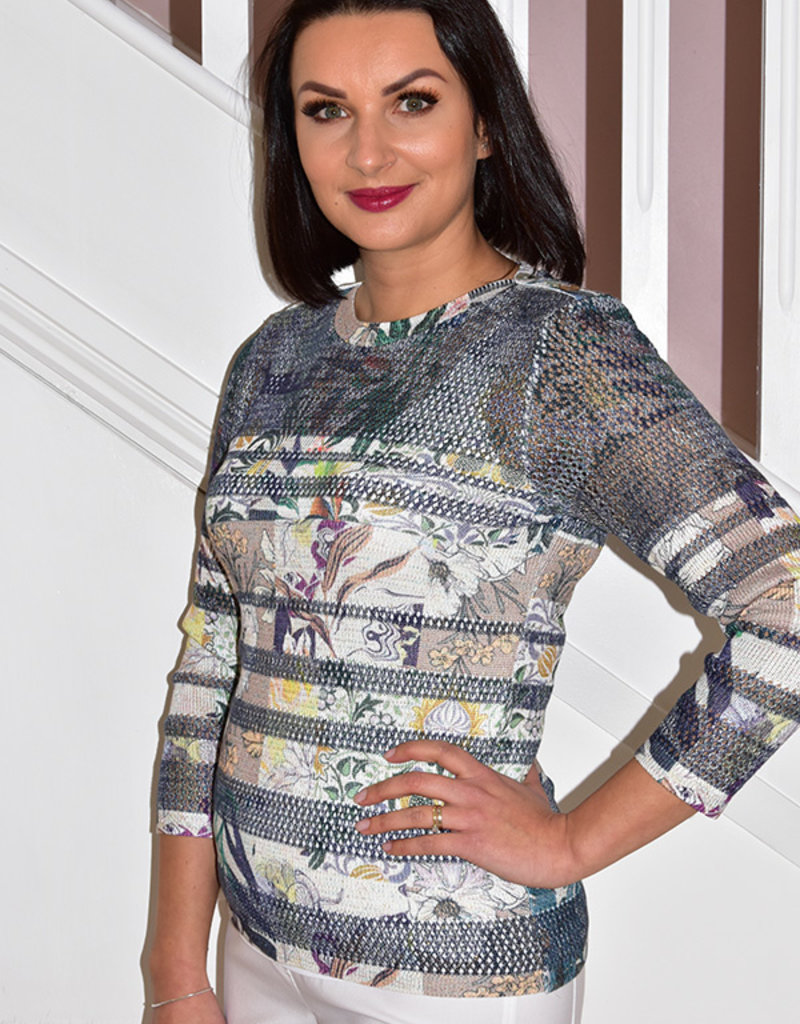 Kalisson Kalisson Knitted Jumper With Floral Print Detail