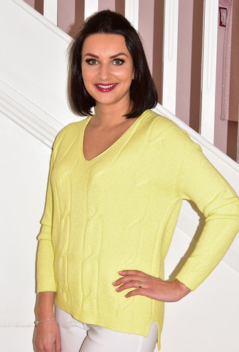 DECOLLAGE Pistachio Lime Green Knitted Jumper