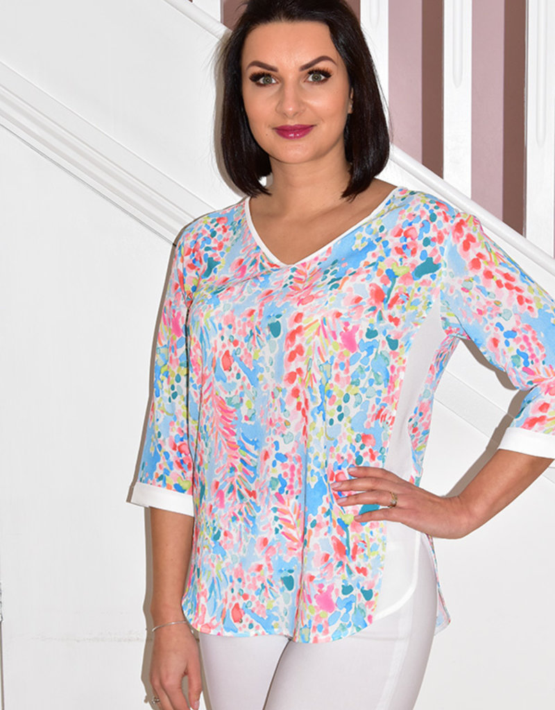 DECOLLAGE Multi Coloured Lilly Print Blouse