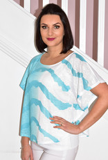 MARBLE Turquoise & White Top With Vest Top