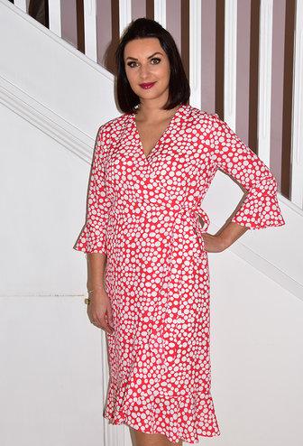 TIA Red/White Polka Dot Dress