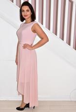 JOSEPH RIBKOFF Rose Dress With Chiffon Skirt & Middle Clasp