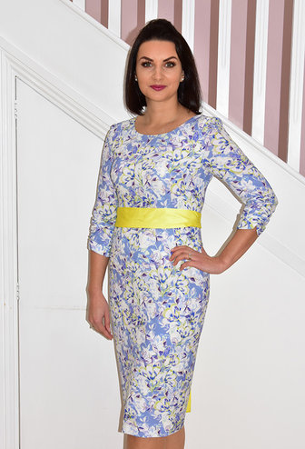 AIDEEN BODKIN Rubens Printed Floral Belted Dress