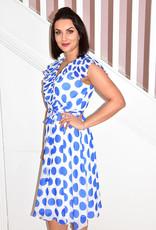 MICHAELA LOUISA V Frill Neck Polka Dot Dress With Tie Belt