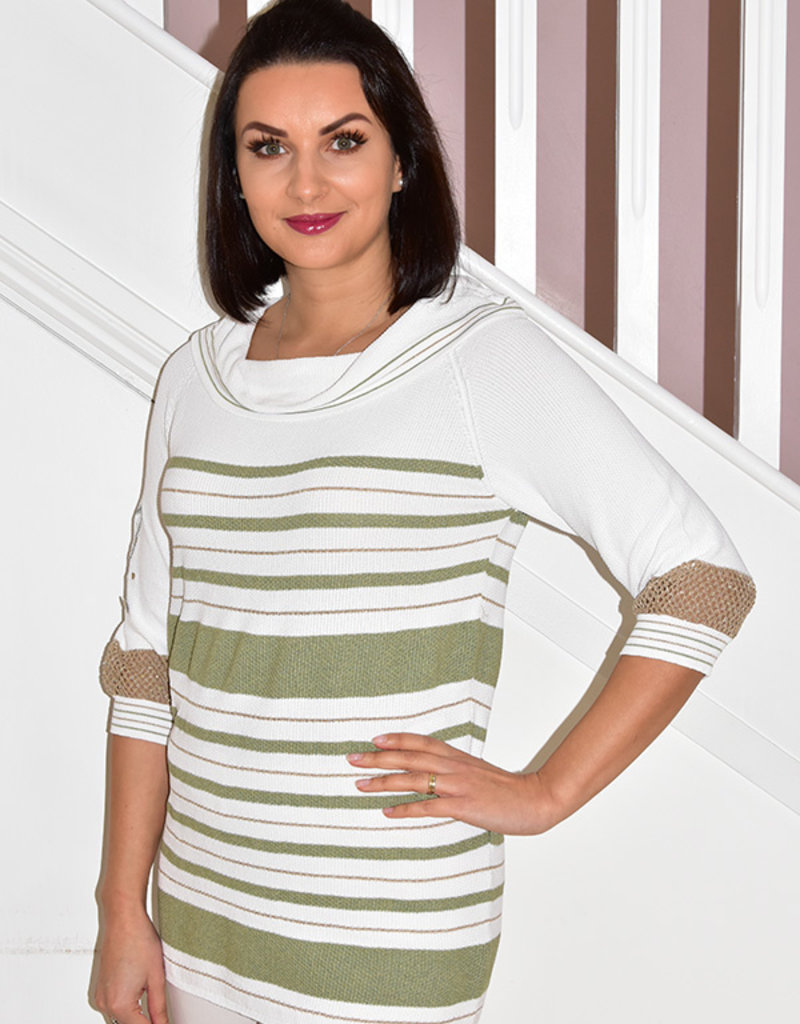 Elisa Cavaletti Knitted Jumper With Cowl Neck