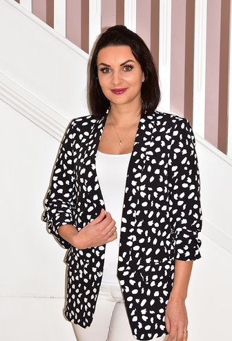 CLP Black & White Animal Print Blazer