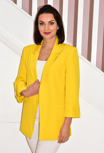 CLP Yellow Blazer With Fold Up Sleeves