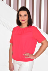 Frank Walder Plain Top With Frill Neck