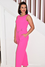TIA Pink Jumpsuit With Silver Chain Detail
