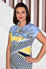 RABE Multi Print Yellow/Blue T-shirt