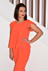 ARGGIDO Orange Jumpsuit With Frill Detail