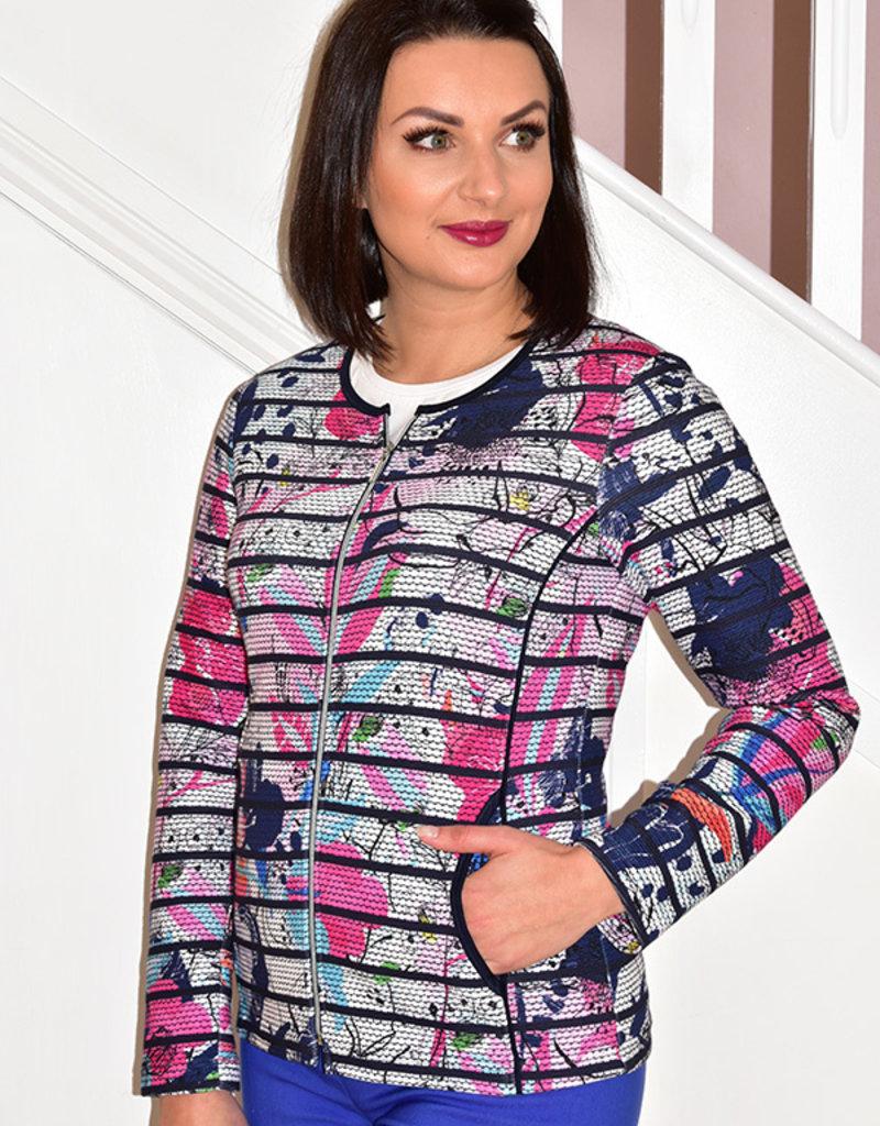 RABE Floral Print Jacket With Zip
