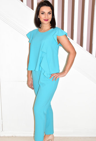 ARGGIDO Turquoise  Jumpsuit With Frill Detail