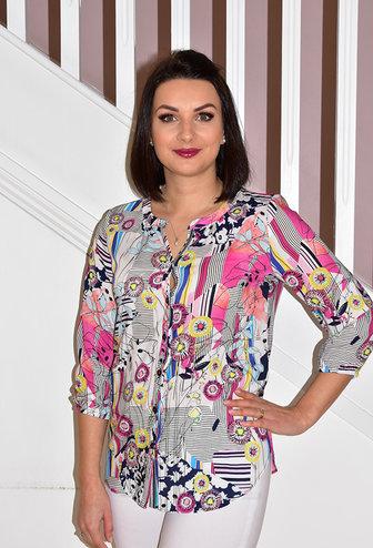 RABE Multi Pattern Shirt With Elasticated Cuff