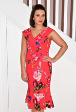 KATE COOPER Dress with fold over collar