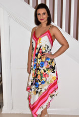 ARGGIDO Floral Pattern High/Low Dress With Skinny Straps