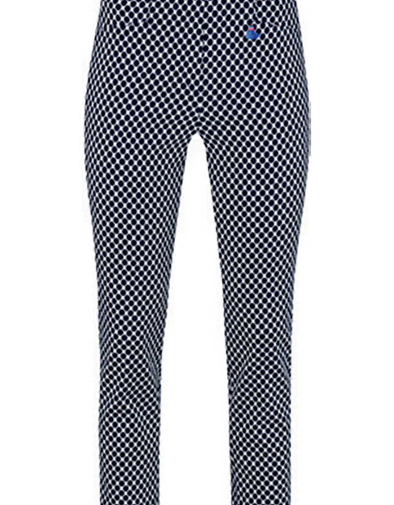 ROBELL Robell Rose 09 Navy Dotted Print Trousers