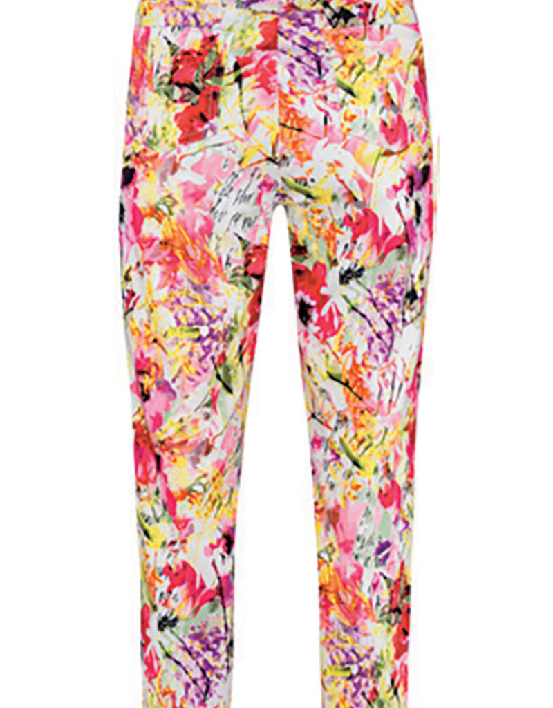 ROBELL Floral Print Bella 09 Trousers