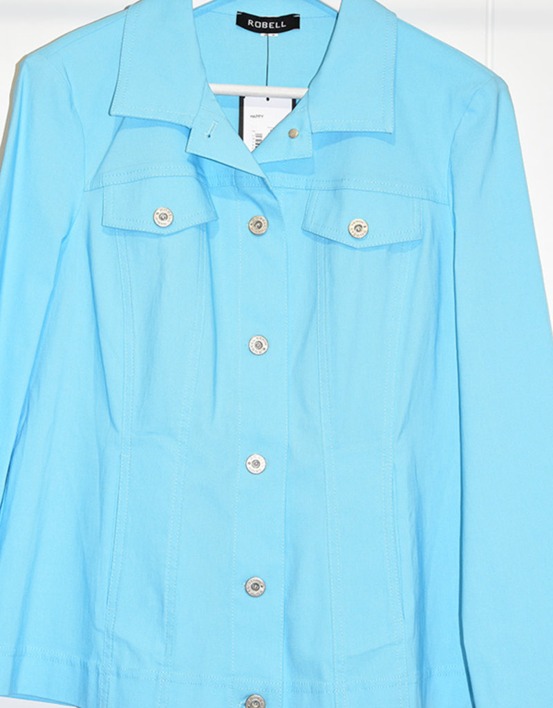 "ROBELL Light Blue ""Happy"" Denim Jacket"