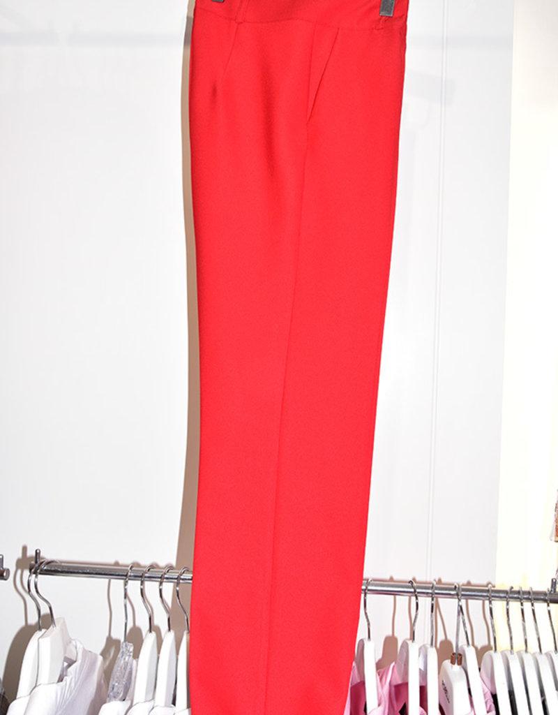 Samsara Lightweight Red Trousers With Zip