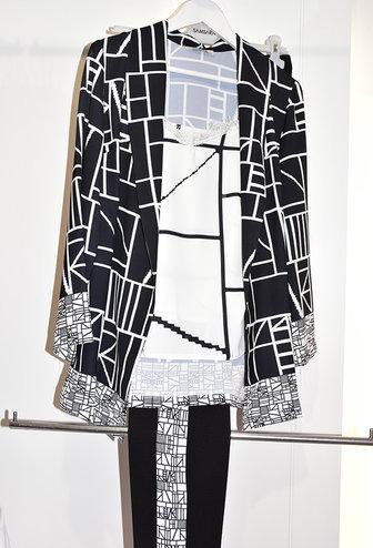 Samsara 3 Piece Blouse, Cami & Trousers With Geometric Print