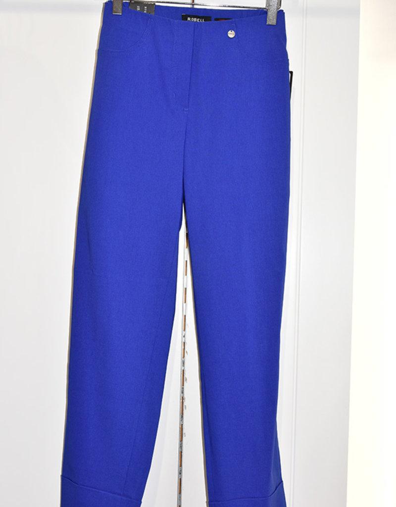 "ROBELL Royal Blue ""Bella"" 3/4 Length Stretchy Trouser"