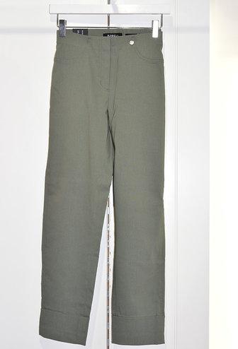 "ROBELL Khaki ""Bella"" 3/4 Length Stretchy Trouser"
