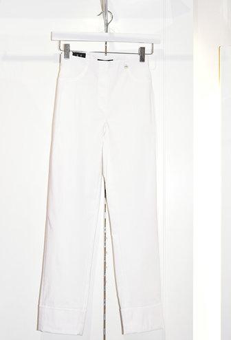 "ROBELL White ""Bella"" 3/4 Length Stretchy Trouser"
