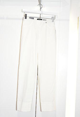 "ROBELL Cream ""Bella"" 3/4 Length Stretchy Trouser"