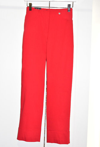 """ROBELL Red """"Bella"""" 3/4 Length Stretchy Trouser"""