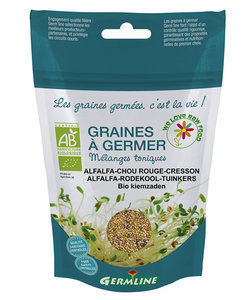 Graines à germer Germline alfalfa - cresson - chou rouge (150gr)