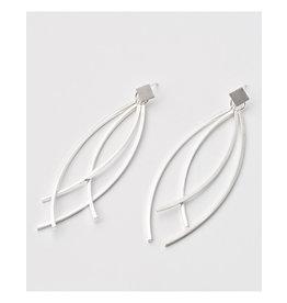 Post earrings pendant 4 sticks