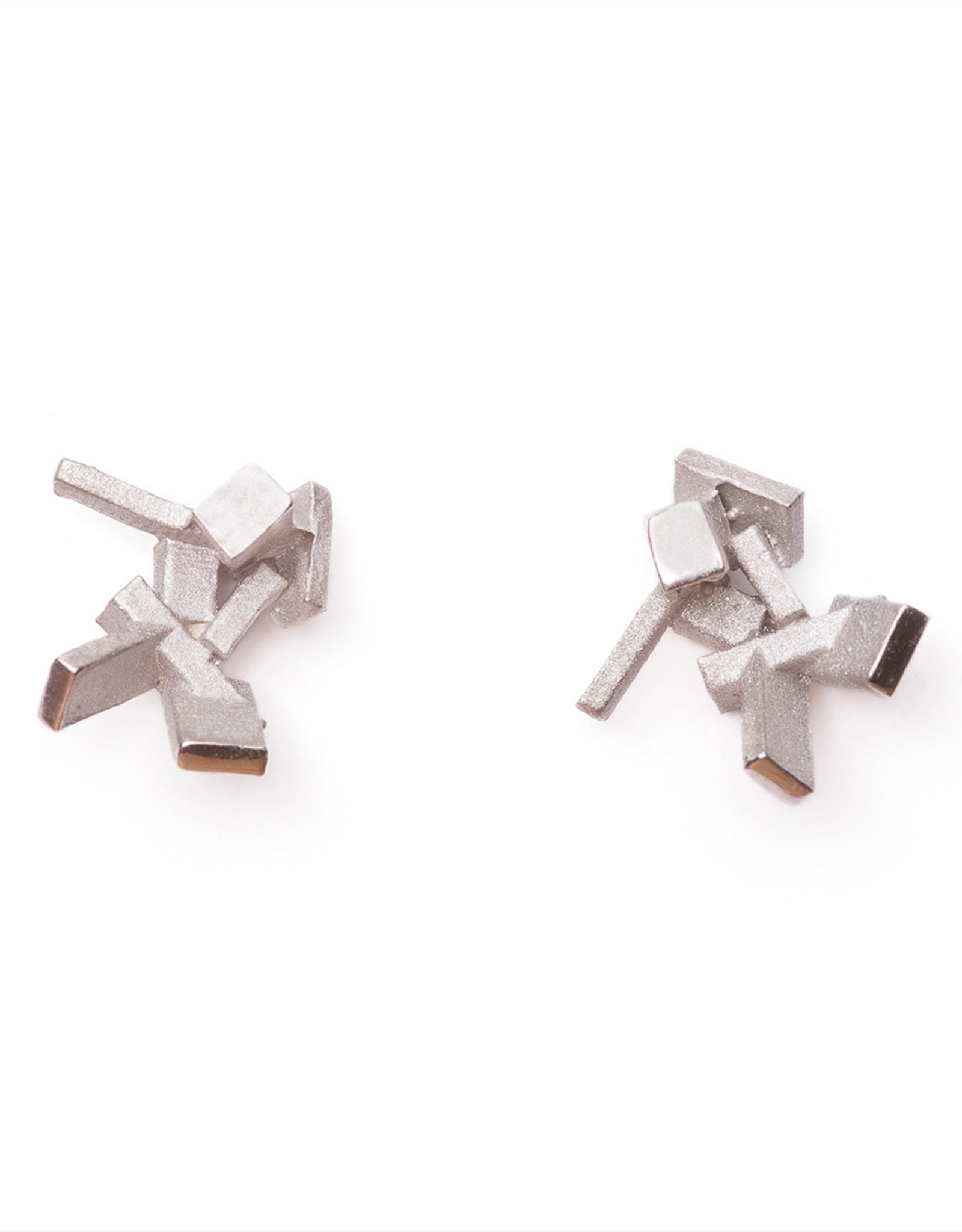 Post earrings cubes