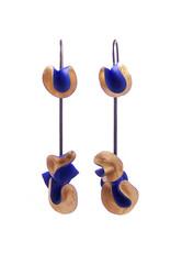 Earrings Coral Blue
