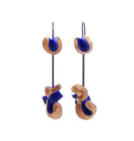 Oorbellen Koraal Blauw
