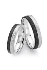 Ring Carbon en zilver