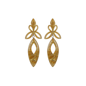 Camps & Camps STATEMENT EARRINGS - YELLOW