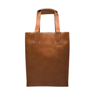 Myomy MY PAPER BAG SHOPPER - COGNAC