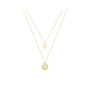 My Jewellery DOUBLE COIN NECKLACE - GOLD