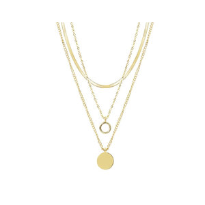 My Jewellery TRIPLE COIN NECKLACE - GOLD