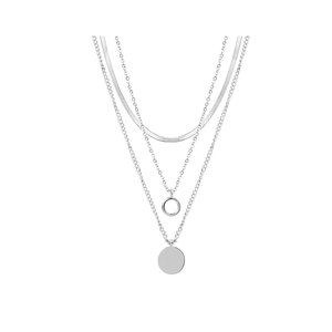 My Jewellery TRIPLE COIN NECKLACE - SILVER