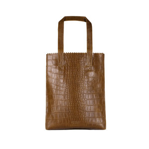 MYOMY MY PAPER BAG SHOPPER - BROWN CROCO