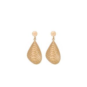 Eline Rosina STATEMENT SHELL EARRINGS - GOLD