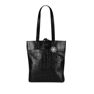 MYOMY MY INSIDEOUT BAG LONG HANDLE - CROCO BLACK